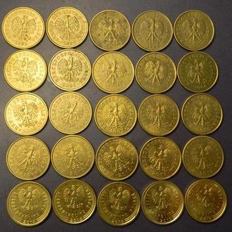 1 грош Польща (порічниця) 25шт, всі різні