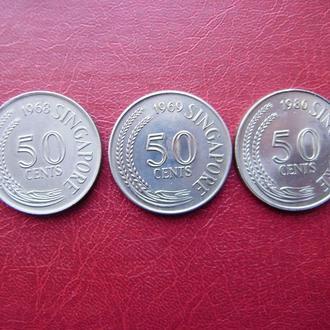 Сингапур 50 центов 1968-1980