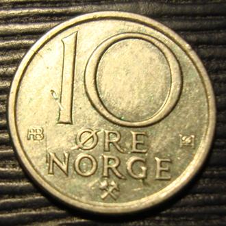 Норвегия 10 ойре 1975 год