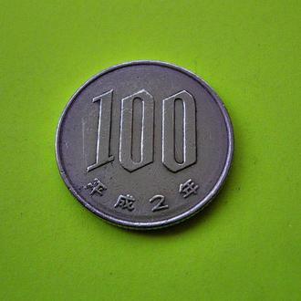 Япония 100 йен 1990 г. Эпоха Акихито (Хэйсэй) (1989 - 2018)