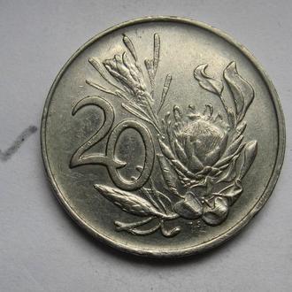 ЮАР 20 центов 1990 г.