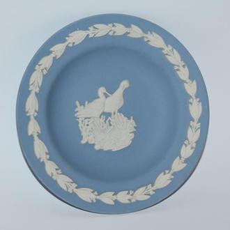 редкая миниатюрная тарелка фарфор wedgewood made in england  винтаж птицы