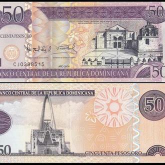 ДОМИНИКАНА 50 песо 2008г. UNC