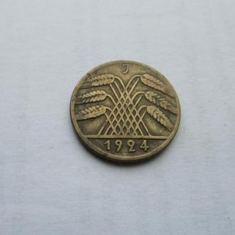 10 пфеннингов Германия 1924 год