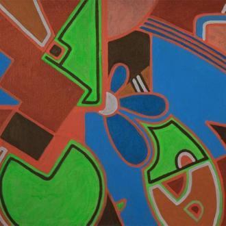 Корж Тарас, Картина Фауна, 2015, полотно, акрил, 75х100