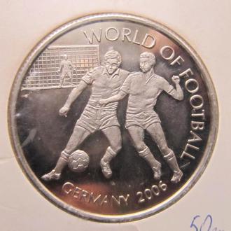 Монета 1000 шиллингов Уганда 2006 спорт футбол Чемпионат Мира Германия