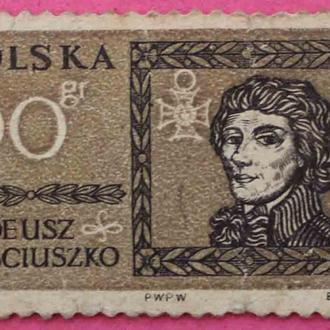 Марка Польши. Тадеуш Косцюшко.