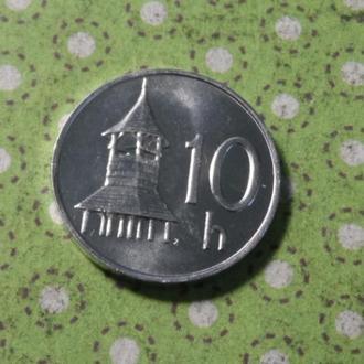 Словакия 2002 год монета 10 геллеров !