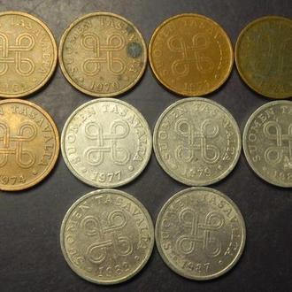 5 пенні Фінляндія (порічниця) 10шт, всі різні