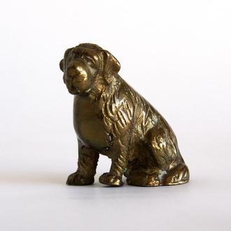 Антикварная фигурка статуэтка Пес Собака, бронза