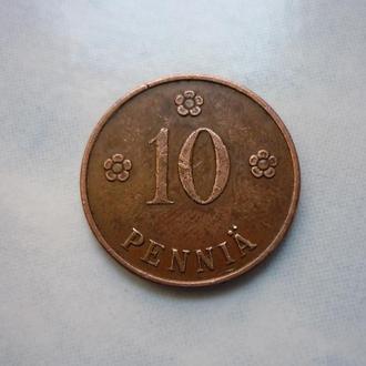 Финляндия 10 пенни 1928