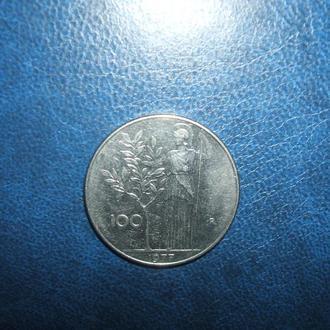 Италия 100 лир, 1977