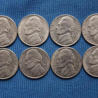 США  5 центов 2000 г  D
