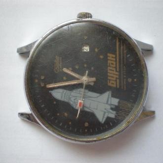 часы Слава Буран интересная модель сохран 0405