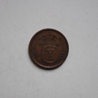 Исландия 1 эйре 1942 г., СОСТОЯНИЕ