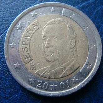Испания 2 евро 2001