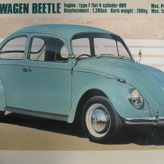 Сборная модель автомобиля Volkswagen   Beetle  Type 1   '66 1:24 Hasegawa
