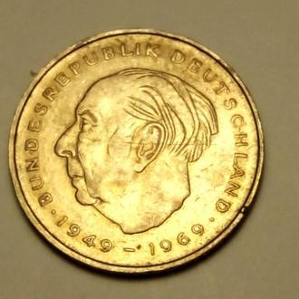 2 марки 1975 года  (  F ) - Германия - CОСТОЯНИЕ !!! а2