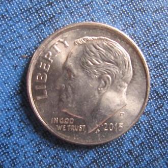 Монета дайм 10 центов США 2013 Р