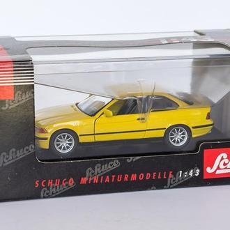 1:43 BMW 325i Coupe, Schuco #04062 Germany, yelow