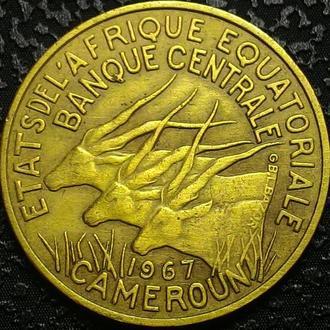 Французский Камерун 10 франков 1967 год СОХРАН!!!
