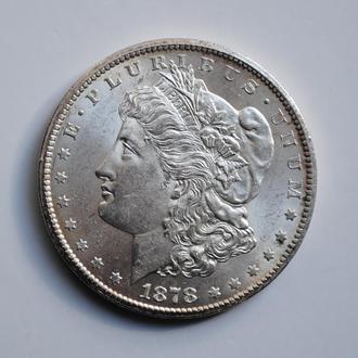 США 1 доллар 1878 г. CC, UNC, 'Доллар Моргана' ОЧЕНЬ РЕДКАЯ + СОСТОЯНИЕ