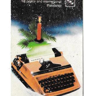 Календарик 1988 Пресса, издательство, Агентство Печати Новости