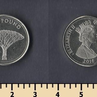 Гибралтар 1 фунт 2016