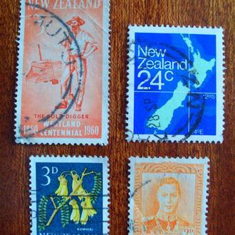 Новая Зеландия.1938/82гг. Стандартные марки. Подборка.