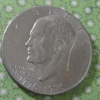 США 1976 год монета 1 доллар Америка
