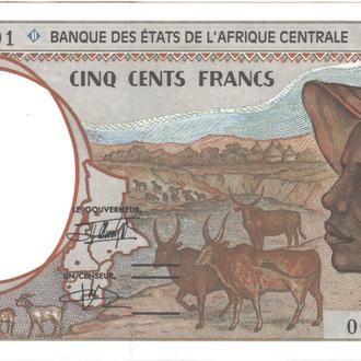 Габон 500 франков 1993 г.UNC из пачки