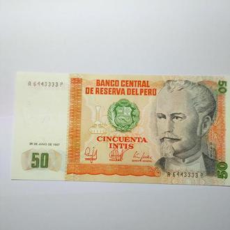 50 cincuenta intis, 1987, Перу,  пресс, unc.