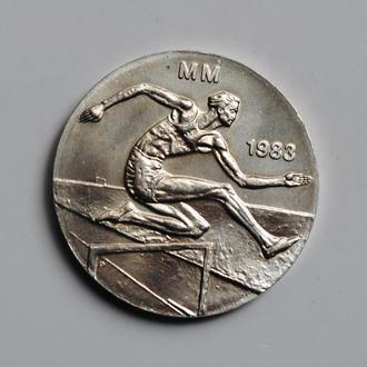 Финляндия 50 марок 1983 г., UNC, 'Первый чемпионат мира по легкой атлетике'