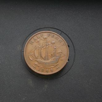 Великобритания 1/2 пенни 1944