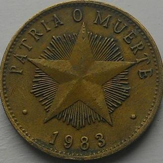 Куба 1 песо 1983 год