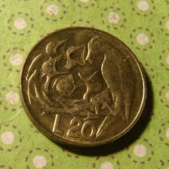 Сан-Марино 1975 год монета 20 лир !