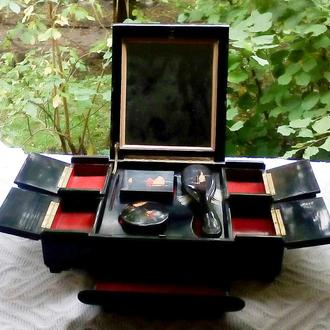 Винтажная шкатулка с зеркалом Китай 50е гг