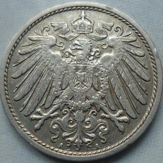 Германия 10 пфеннигов 1911 A