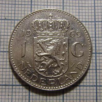 Нидерланды, 1 гульден 1969 г