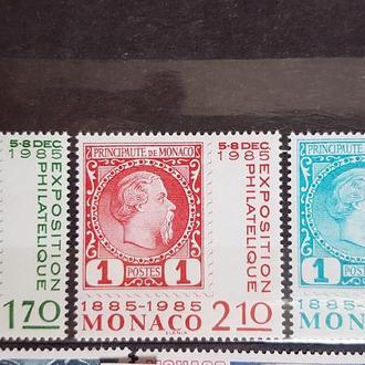 Монако 1985 100 лет первой марки Монако Михель = 3 евро**
