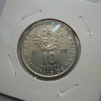 Мавритания 10 угий 2005
