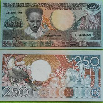 Суринам 250 гульден 1988г. UNC
