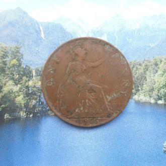 Англия 1 пенни 1916 года