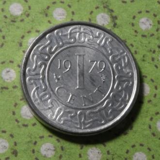Суринам 1979 год монета 1 цент !