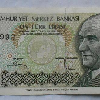 Турция 10 лир 1970 (1982) год.