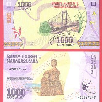 Боны Африка Мадагаскар 1000 ариари 2017 г.