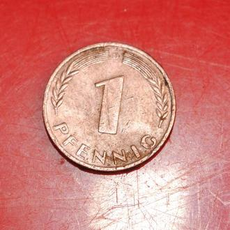 1 пфеннинг 1950 г ФРГ