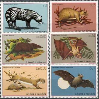 фауна Сан-Томе и Принсипи о-ва-1981 млекопитающие (кц 14е)