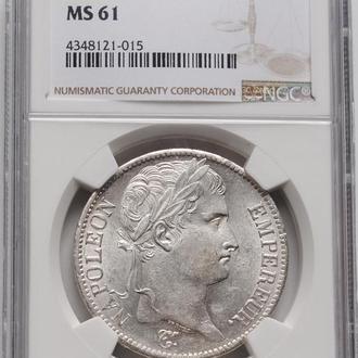 """Франция 5 франков 1811 г. А, NGC MS61, """"Император Наполеон I (1804 - 1815)"""""""