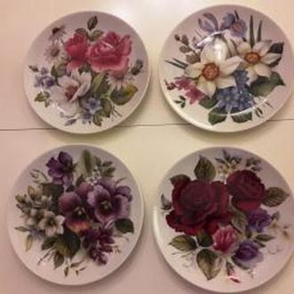 4 коллекционные настенные тарелки KAISER Германия